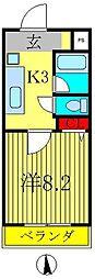 エーデルコート新松戸[2階]の間取り