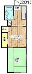 東京都狛江市東和泉2丁目の賃貸アパートの間取り