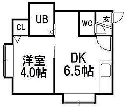 北海道札幌市西区琴似一条7丁目の賃貸アパートの間取り