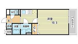兵庫県姫路市南条1丁目の賃貸マンションの間取り