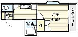 大阪府大阪市生野区巽北2丁目の賃貸マンションの間取り