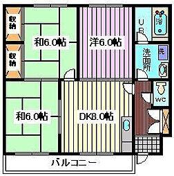 埼玉県さいたま市桜区西堀7丁目の賃貸マンションの間取り