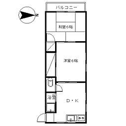 藤香ビル[3階]の間取り