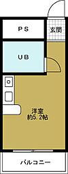 アッシュコート夕凪[4階]の間取り