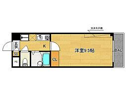 富士ラビット七条館[703号室]の間取り