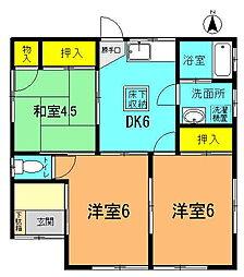 [一戸建] 神奈川県平塚市中原3丁目 の賃貸【/】の間取り