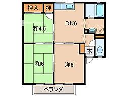 サニータウン[2階]の間取り
