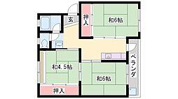 石守住宅[C11-402号室]の間取り