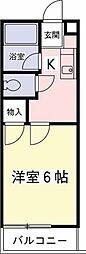 クレールハイムC[3階]の間取り