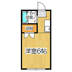 コーポ町柳[202号室]の間取り
