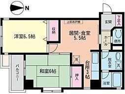 神奈川県川崎市幸区小向西町4丁目の賃貸マンションの間取り