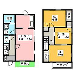 ガーデンハウスB[1階]の間取り