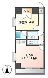 アビタシオン葵[3階]の間取り