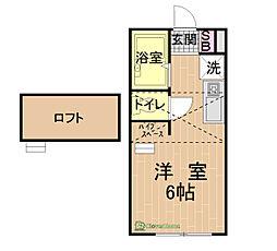 セレーナ橋本[2階]の間取り