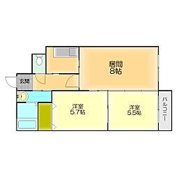 北海道札幌市厚別区厚別中央五条5丁目の賃貸マンションの間取り
