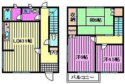 [テラスハウス] 埼玉県さいたま市北区本郷町 の賃貸【/】の間取り