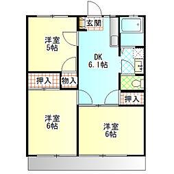 第3湘南マンション[102号室]の間取り