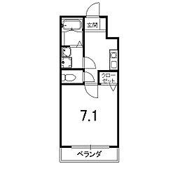 プチ・フルール嵐山[303号室]の間取り