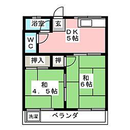 コーポ京和[1階]の間取り