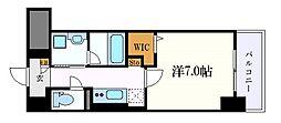 グランツェ名駅太閤通 5階1Kの間取り