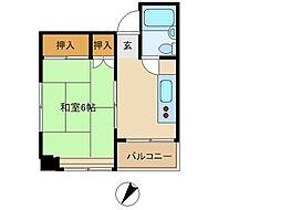東京都渋谷区幡ケ谷1丁目の賃貸マンションの間取り