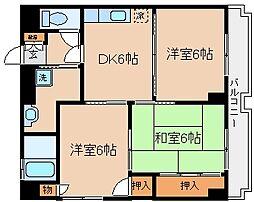 兵庫県神戸市兵庫区上沢通7丁目の賃貸マンションの間取り