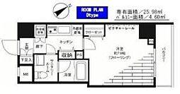 東京都港区麻布十番2丁目の賃貸マンションの間取り