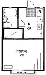 東京都豊島区西池袋2の賃貸アパートの間取り