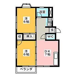 シャトレFII[1階]の間取り