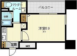 プレサンス天満ステーションフロント[12階]の間取り