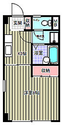 進栄ビル[205号室]の間取り