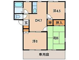 リバーコンフォール[1階]の間取り