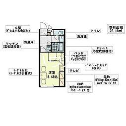 レオパレスドルフ文京台南[2階]の間取り