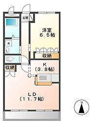 ヴァレーレ[2階]の間取り