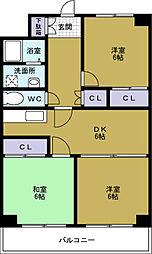 シャトー元町[7階]の間取り