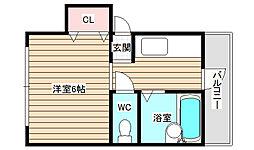 タウンM2海老江[4階]の間取り
