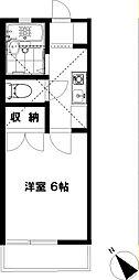 藤沢ドミール21[205号室]の間取り