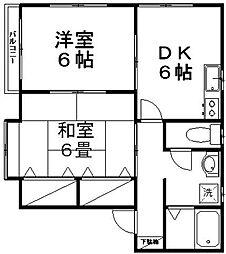 新潟県新潟市西区真砂2丁目の賃貸アパートの間取り