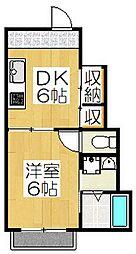 トランスアパートメント[H号室]の間取り