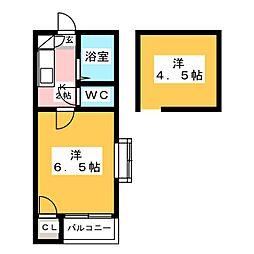 ピ・パァルゥ博多[2階]の間取り