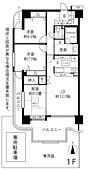 全室6帖以上。広い専用庭が付いた戸建て感覚のマンションです。