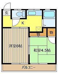 サンハウス松本C[1階]の間取り