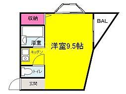 大阪府堺市堺区永代町6丁の賃貸マンションの間取り