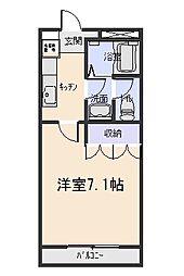 フォレスト粕川C棟[2階]の間取り
