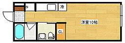 DiO PONTA 1階ワンルームの間取り