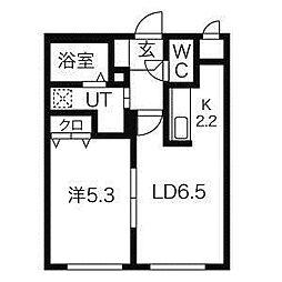 コンパートメントノースワン[1階]の間取り