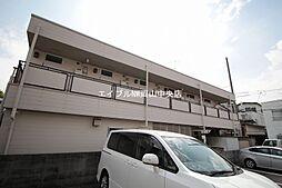 岡山県岡山市北区舟橋町の賃貸アパートの外観