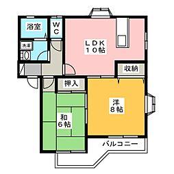 Sakura B[1階]の間取り