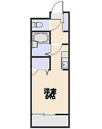 埼玉県所沢市北野1丁目の賃貸マンションの間取り