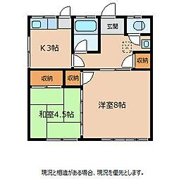 南井アパート[2階]の間取り